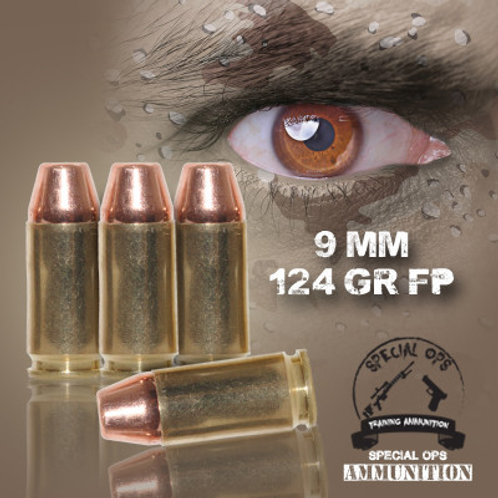 SPECIAL OPS AMMO 9 MM 124 GR FP