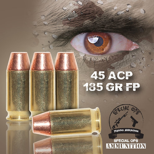 SPECIAL OPS AMMO 45 ACP 185 GR FP