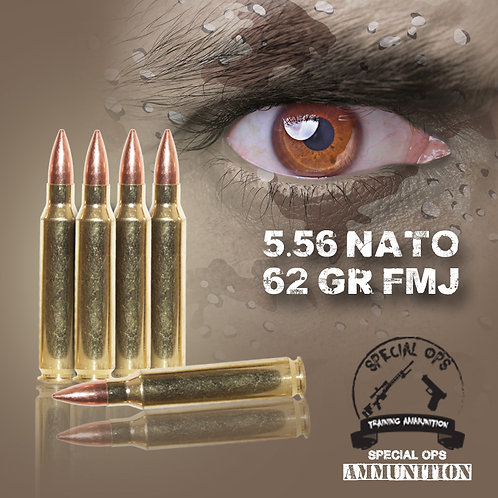SPECIAL OPS AMMO 5.56 NATO 62 GR FMJ