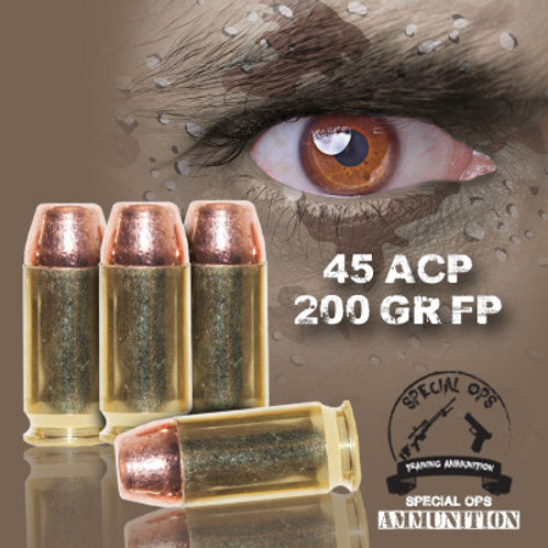 SPECIAL OPS AMMO 45 ACP 200 GR FP