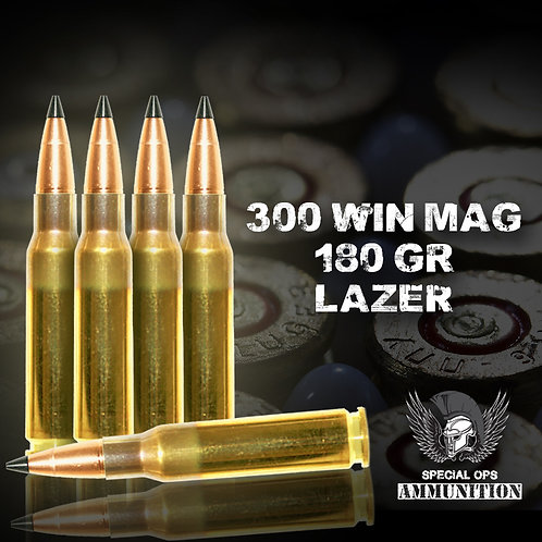 SPECIAL OPS AMMO 300 WIN MAG 180 GR LAZER