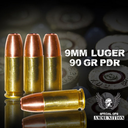 SPECIAL OPS AMMO 9 MM LUGER 90 GR PHD RAPTOR