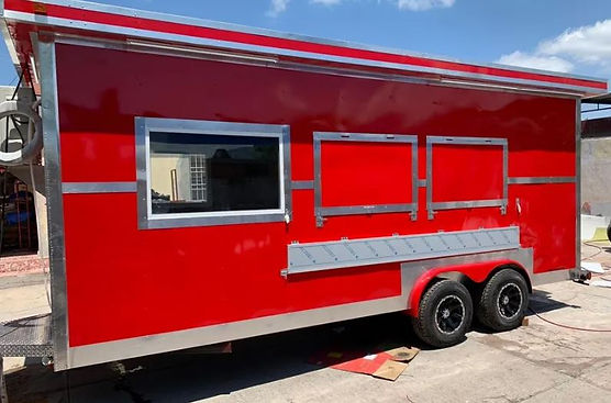 Remolques FTM Tulsa Food Trucks Red Trailer 18 FT