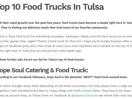 Dope Soul Catering + Food Truck Voted #1 Readers Choice Food Truck in Tulsa