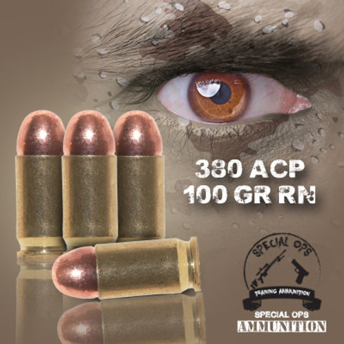 SPECIAL OPS AMMO 380 ACP 100 GR RN
