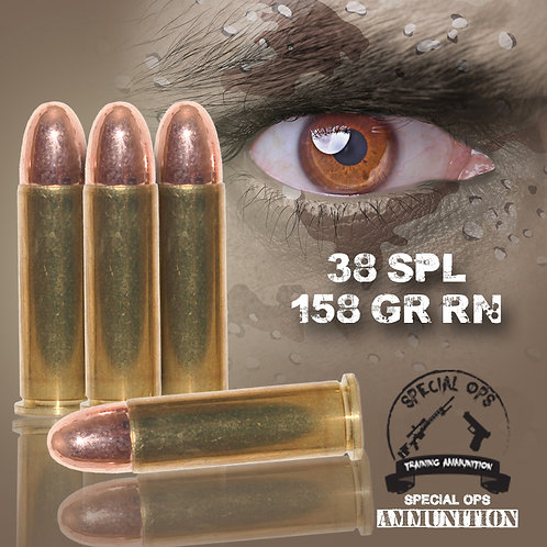 SPECIAL OPS AMMO 38 SPL 158 GR RN