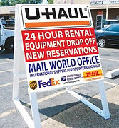 Uhaul Services in Tulsa at Mailworld Office 24 hour rental and reservations
