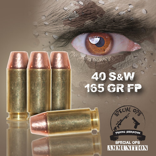 SPECIAL OPS AMMO 40 SW 165 GR FP