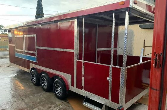 Remolques FTM Tulsa Food Trucks Red  Trailer 26 FT
