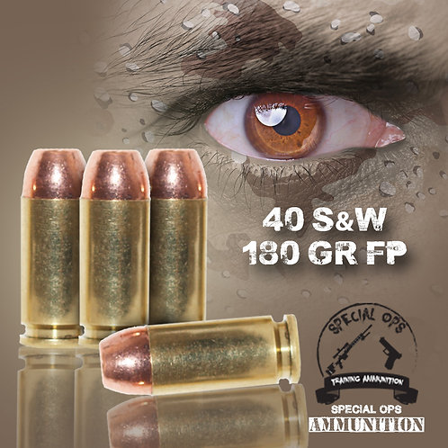 SPECIAL OPS AMMO 40 SW 180 GR FP