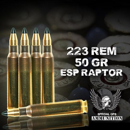 SPECIAL OPS AMMO 223 REM 50 GR ESP RAPTOR