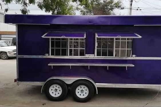 Remolques FTM Tulsa Food Trucks Purple Trailer 14 FT