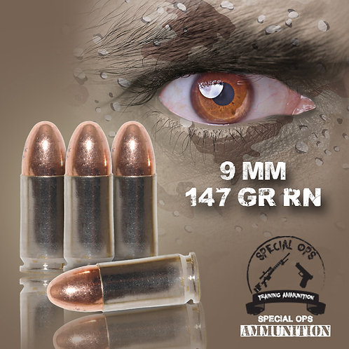 SPECIAL OPS AMMO 9 MM 147 GR RN
