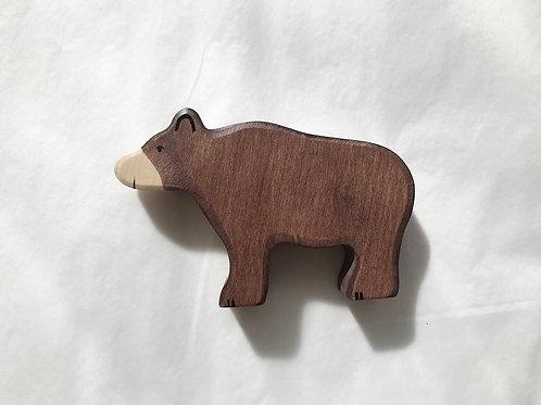 WOODEN BROWN BEAR