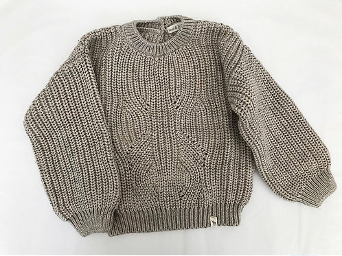 KNITTED JUMPER - BROWN - 8Y