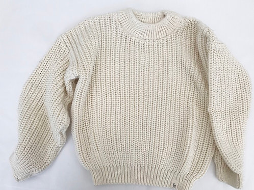 KNITTED JUMPER - IVORY