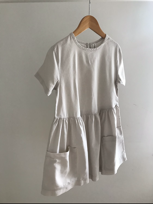 RELOVE LINEN DRESS - 8Y