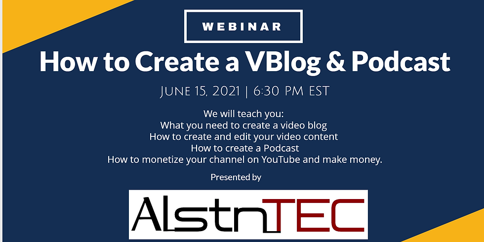 How to Create a VBlog and Podcast