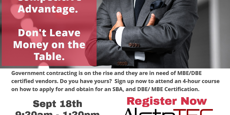 Get an SBA and MDOT DBE/MBE Certification