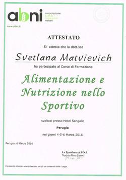 Corso ABNI Nutrizione Sportivo 2016