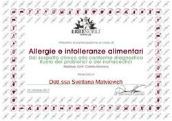 Seminario Allergie e Intolleranze Almentari 2017