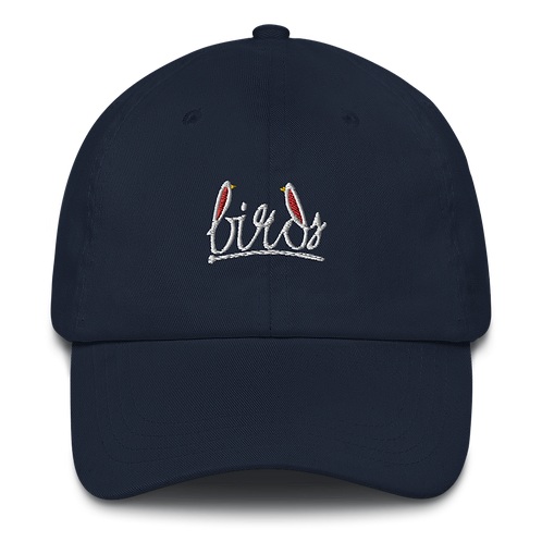 White birds logo -  Dad hat