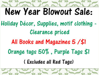 Belfry Bargains New Year Blowout Sale