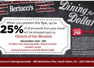 Dine & Donate @ Bertucci's Dec 2nd - 5th