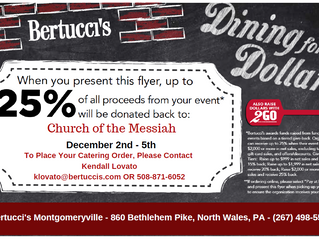 Dine & Donate @ Bertucci's Dec 2nd - 5th