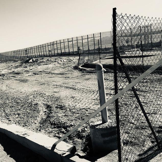 Grenzzaun zu Jordanien