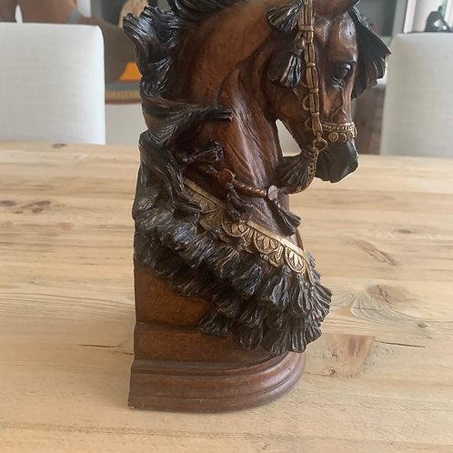 AUCTION -HORSE SCULPTURE - BOOK END