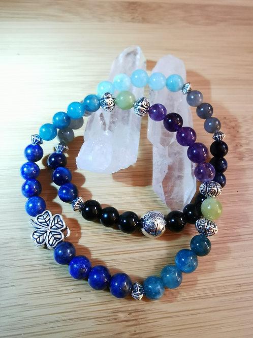 Bracelet céleste, perle 8 mm