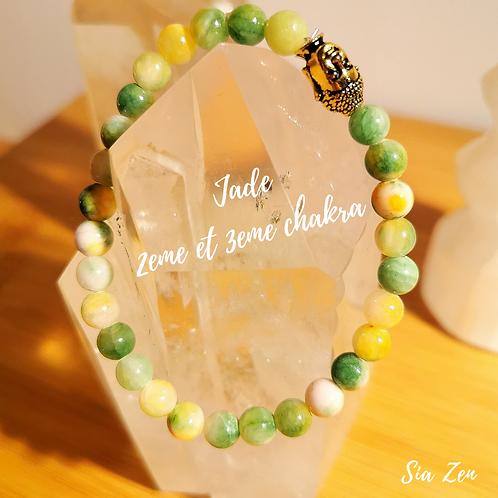 Bracelet Jade jaune et vert