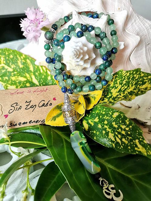 Mala 108 perles Aventurine & Chrysocolle