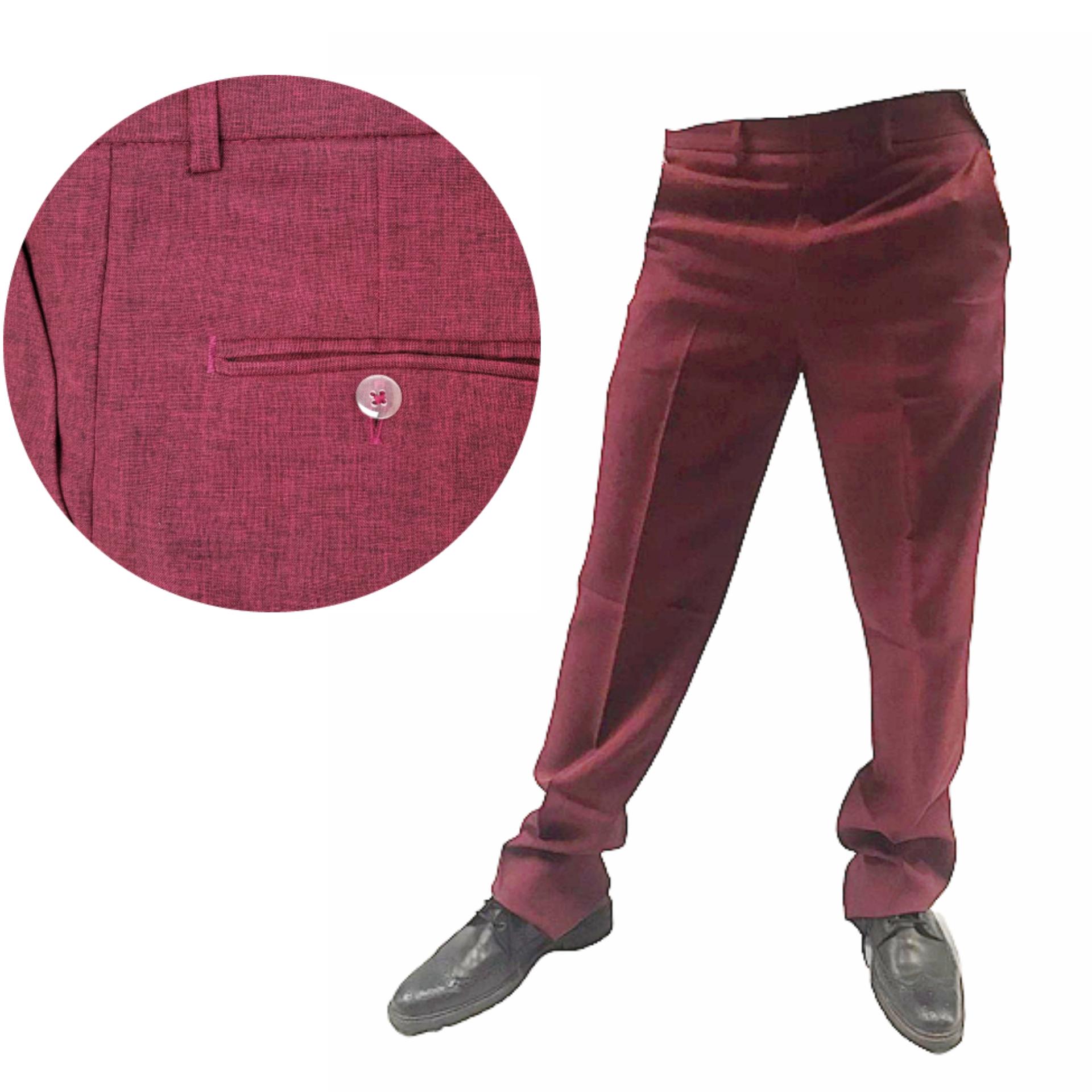 calça social marsala