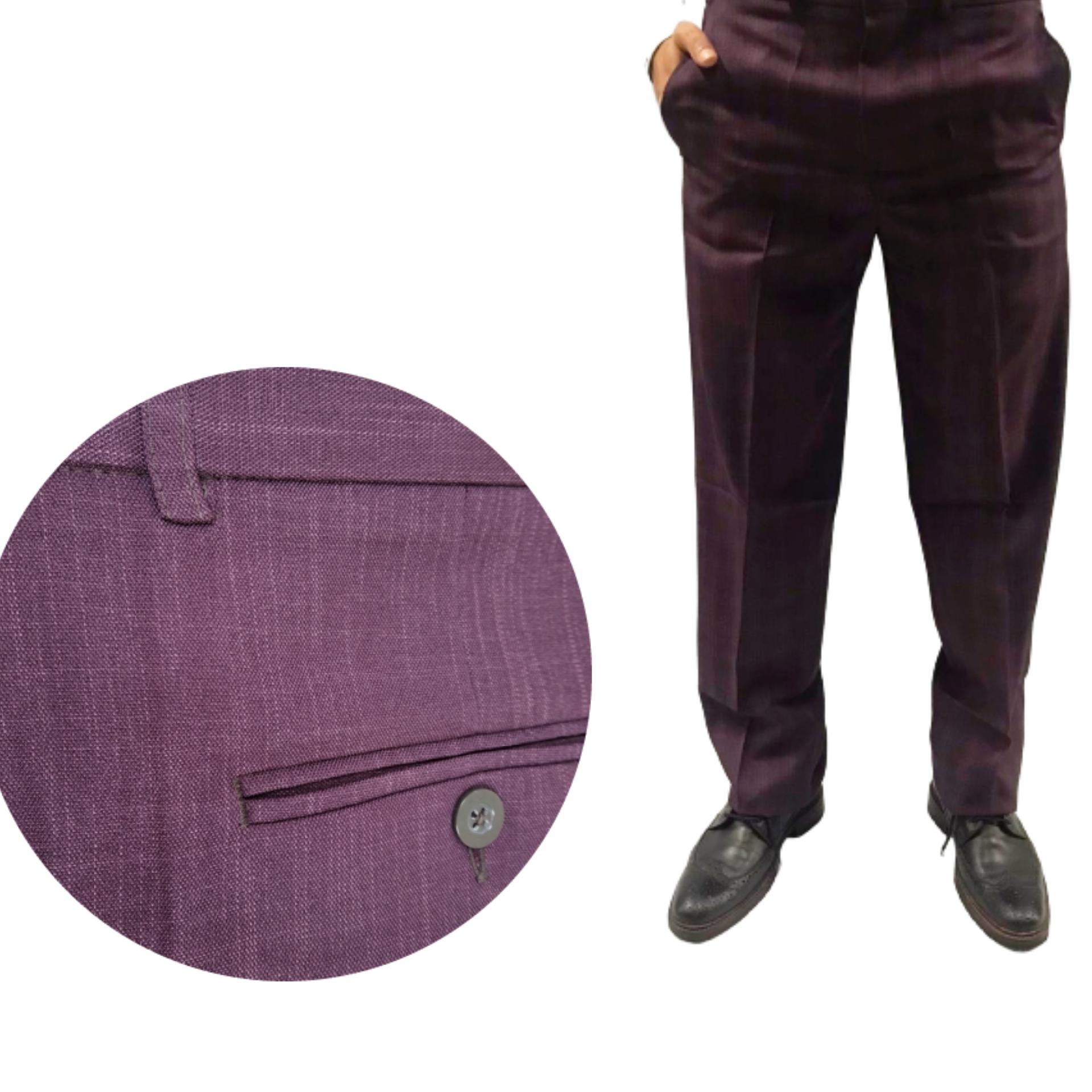 calça social cor uva