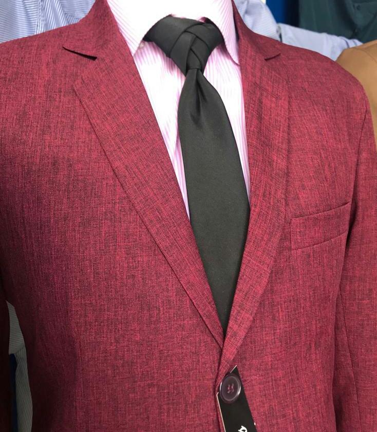 terno slim fit vermelho