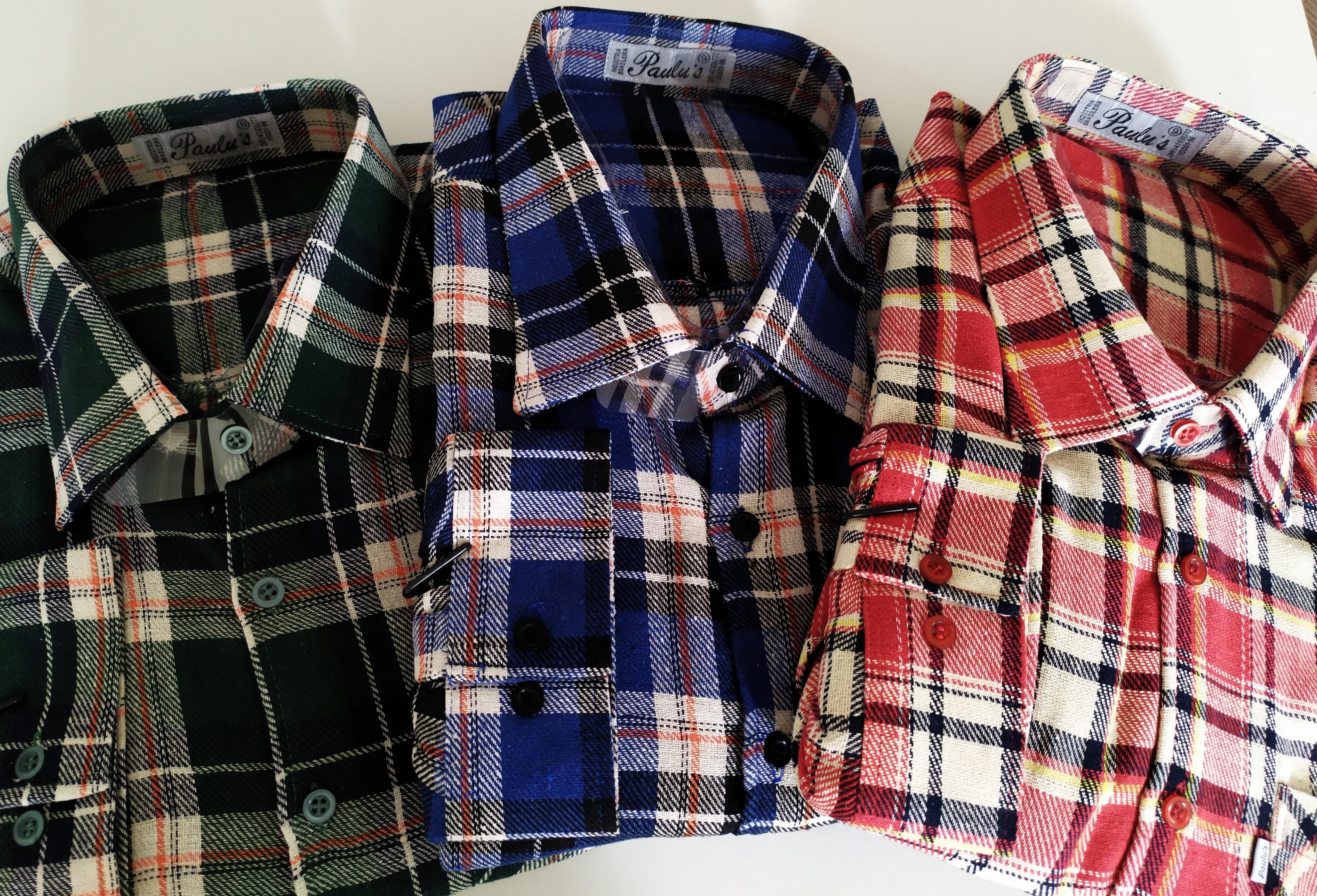 camisa flanela plus size