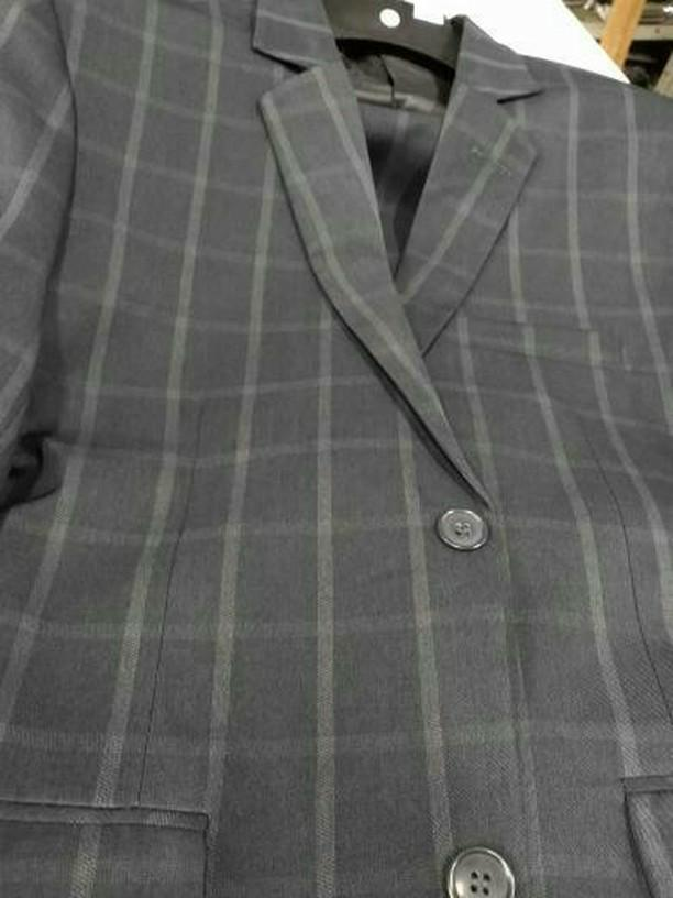 terno quadriculado cinza