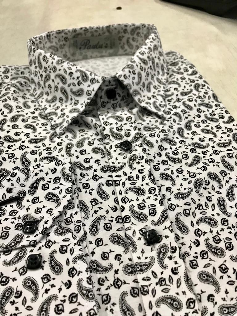 camisa slim fit floral