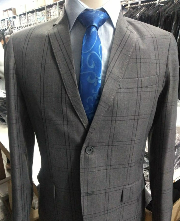 slim fit quadriculado