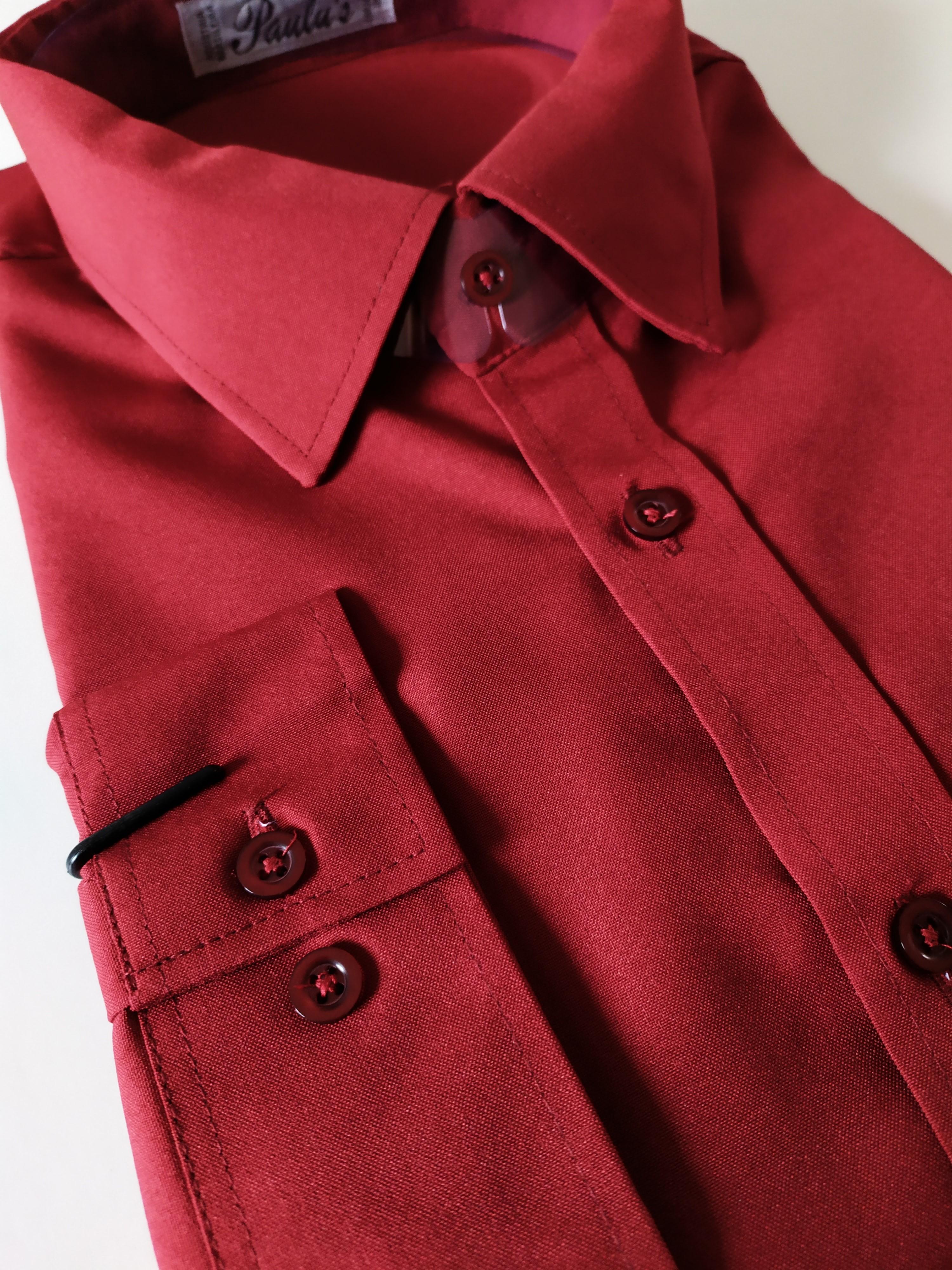 camisa marsala 1 ao 10
