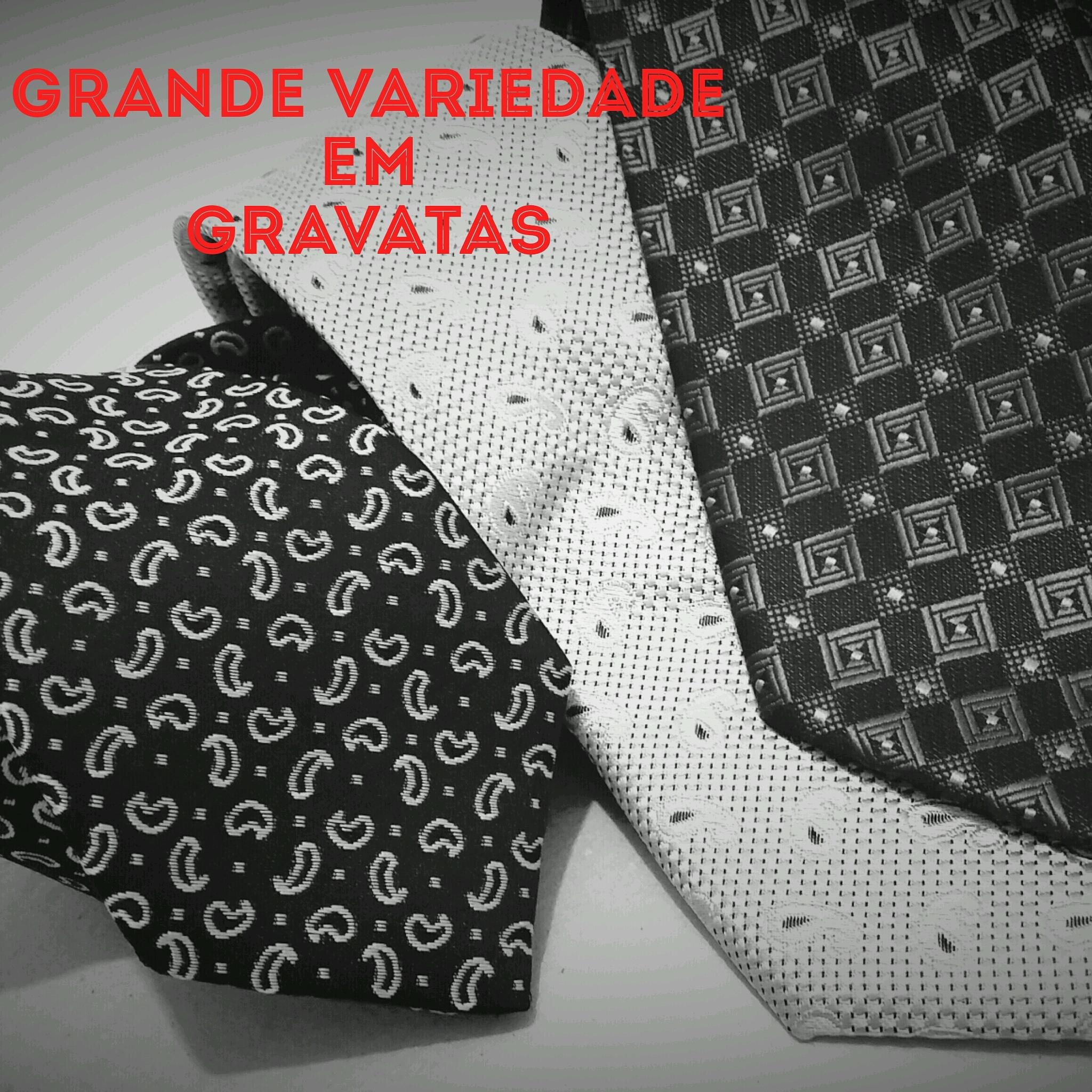 gravata slim e tradicional