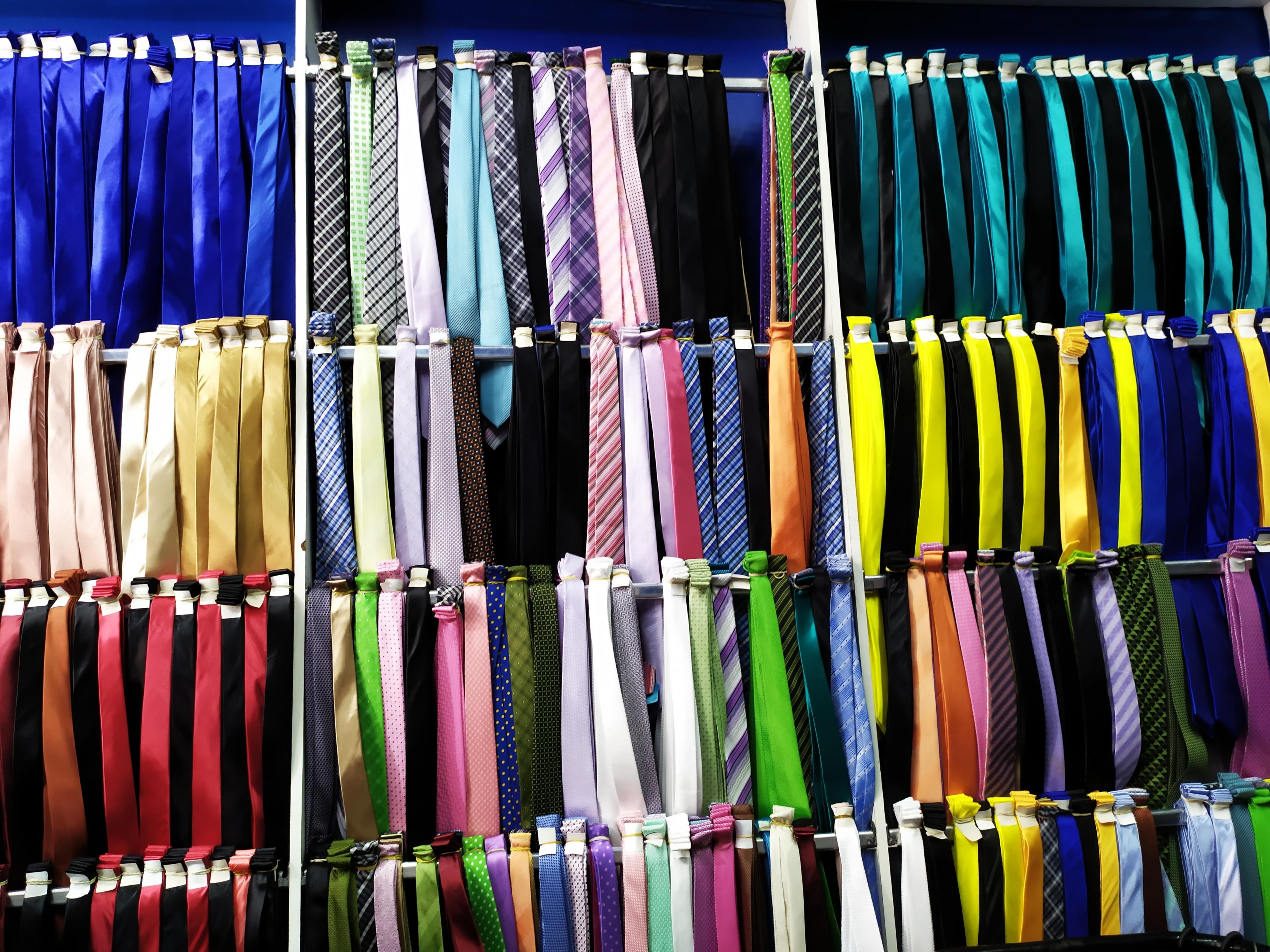 variedade em gravatas