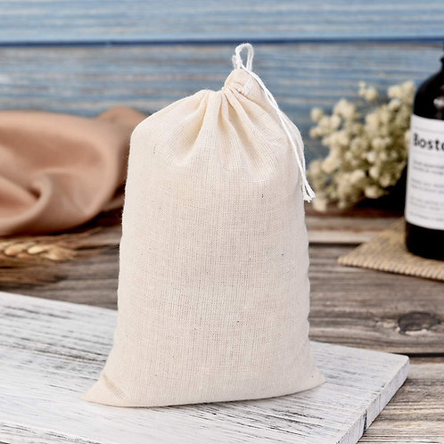 Cotton Muslin Drawstring Bag (4x6)