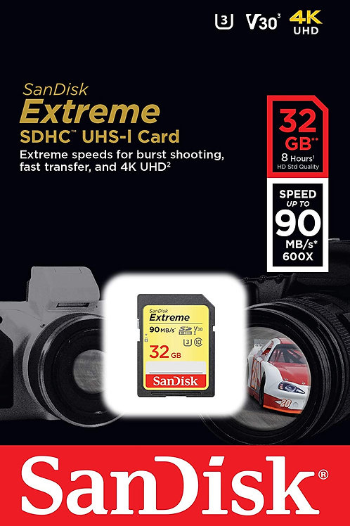 SanDisk 32GB Extreme Memory Card (90MB/s)