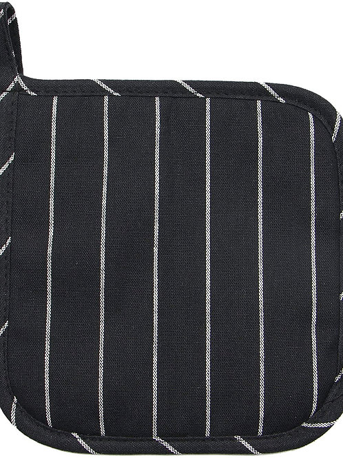 Black Striped Farmhouse Pot Holder