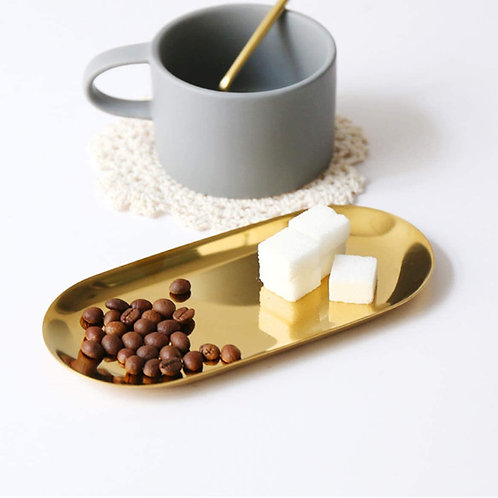 Gold Stainless Steel Tray