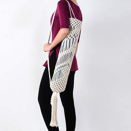 Handmade Macrame Cotton Yoga Bag