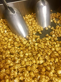 Salted Cowboy Caramel Gourmet, Fine Artisan Jackson Hole POP popcorn being made